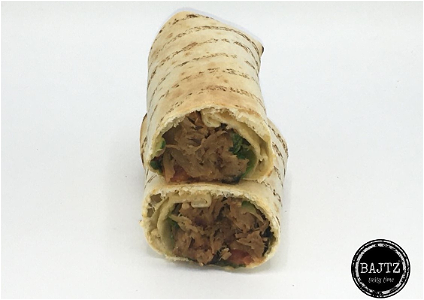 Foto Pulled chicken wrap warm