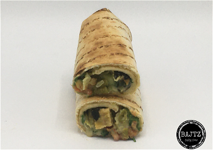 Foto Vegan green curry wrap koud