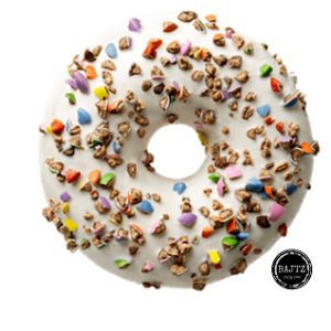 Foto Donut Crushed Candy White